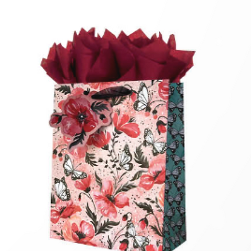 Poppies and Butterflies Gift Bag