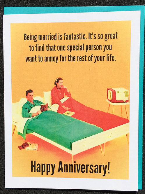Being married is fantastic ... Anniversary Card