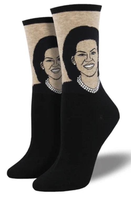 Michelle Obama Socks - Women's