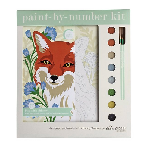 Fox Paint-By-Numbers