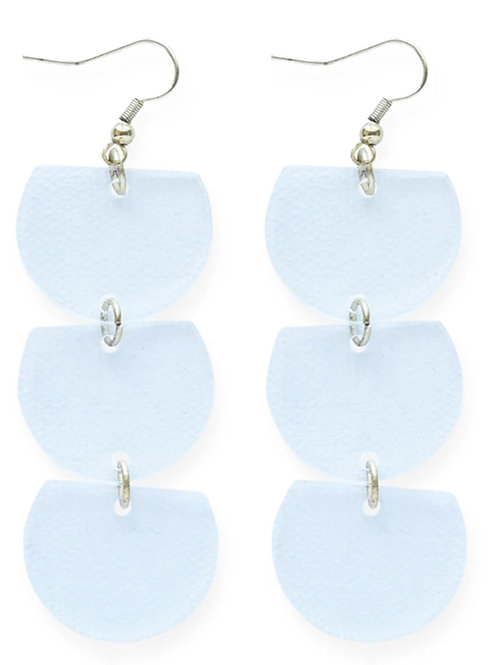 xInk+Alloy Earrings - Clear Trio Half Circle Dangle Lucite