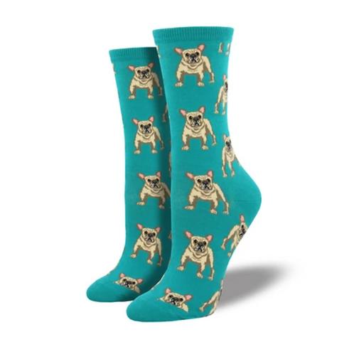 """Frenchie"" Women's Socks"