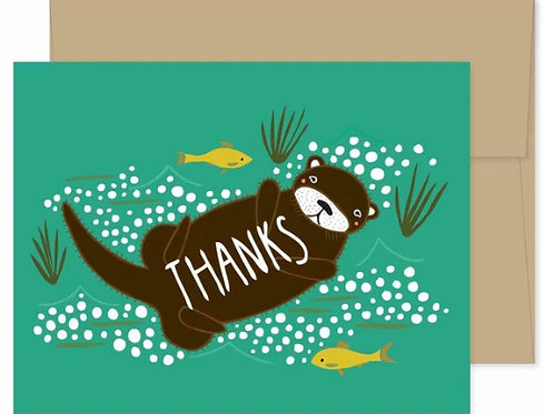Thank You Card - Otter