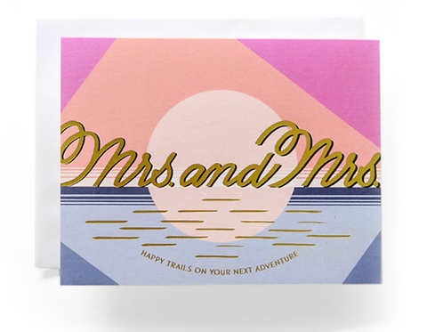 Mrs. and Mrs. Wedding Card