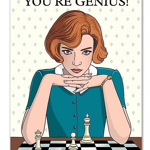 You're Genius Birthday Card