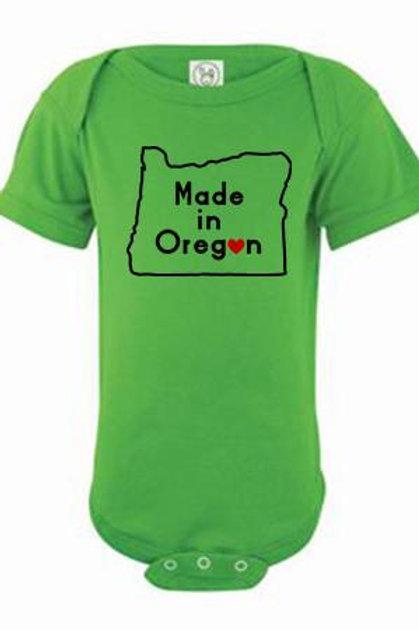Made In Oregon Onesie Apple