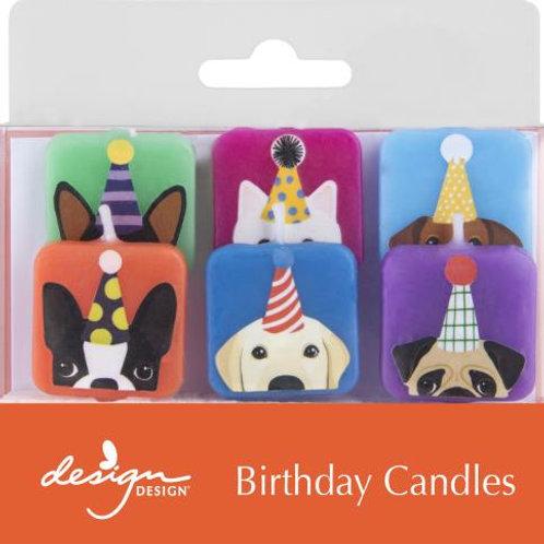 Doggie Birthday Cake Candles
