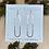 Thumbnail: Geometric Threaders- Oval Earrings