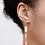 Thumbnail: Trailing Hoop Earrings