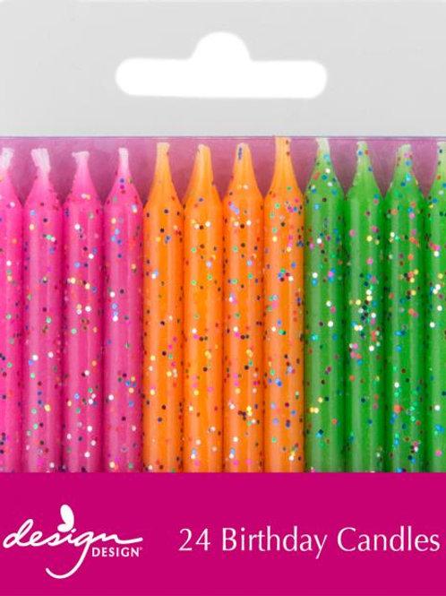 Glitter Birthday Candles
