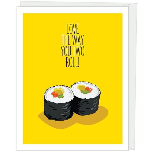 Sushi Roll Anniversary Card