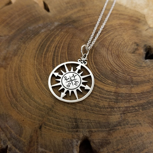 Compass Cut Out Necklace