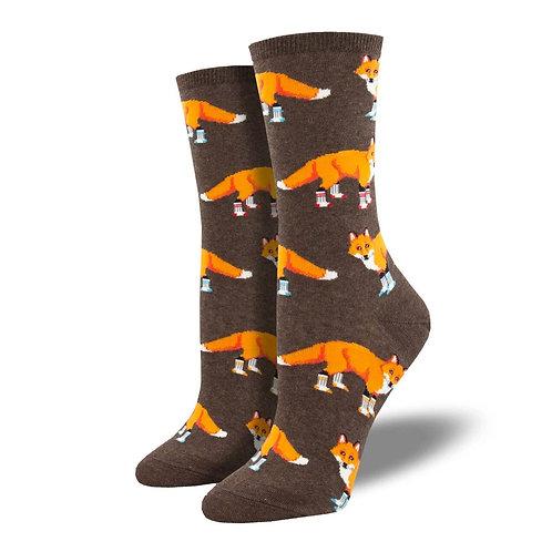 """""""Socksy Foxes"""" Women's Socks"""