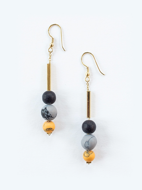 Stacked Clay Beaded Earrings