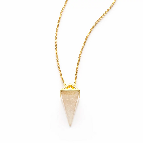 Quartz Pyramid Necklace