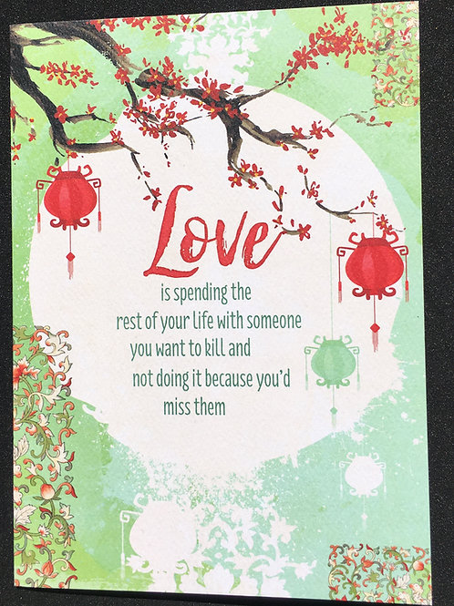 Love is spending... Anniversary Card