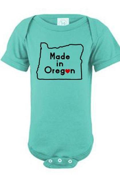Made In Oregon Onsie Caribbean Blue