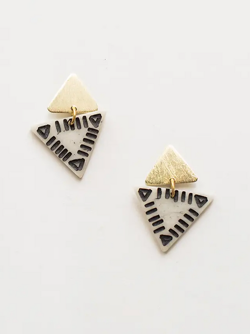 Oblique Triangle Earrings
