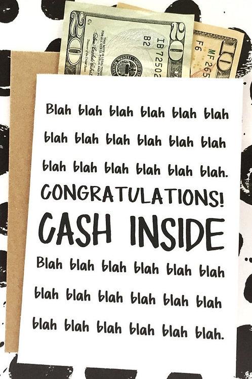 Congratulations Card - Cash Inside