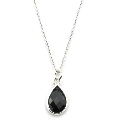 Black Spinal Pear Necklace