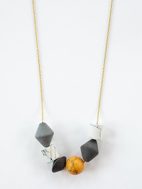 Geoblock Beaded Necklace