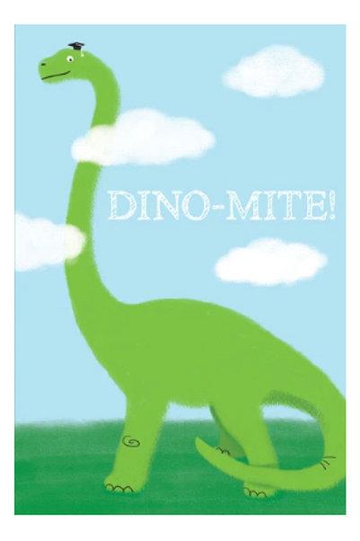 """Graduation Card Dinosaur """"Dino-Mite!"""""""