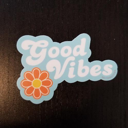 Good Vibes Flower Sticker
