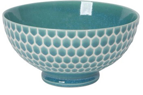 Honeycomb Cereal Bowl Blue