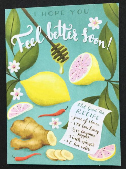 Lemon & Ginger Feel Better / Get Well Card
