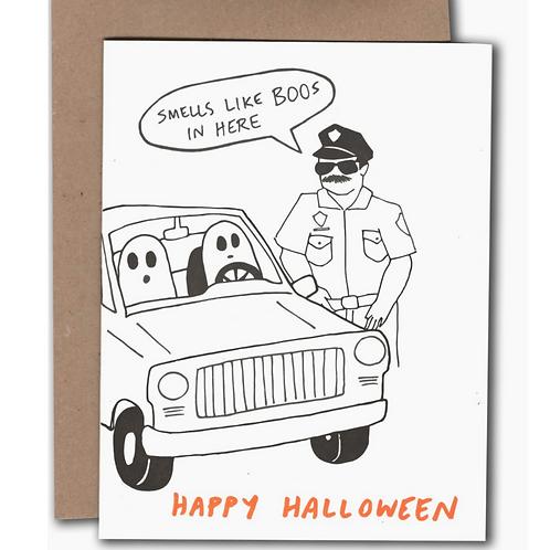 Smells Llike Boos... Halloween Card