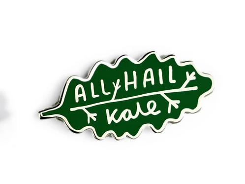 All Hail Kale Enamel Pin