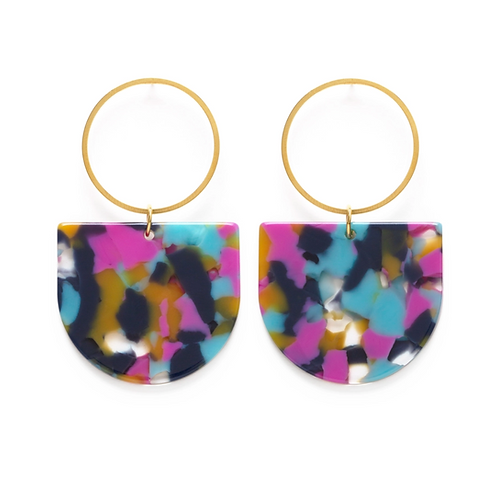 Mod Earrings-Mixed Color