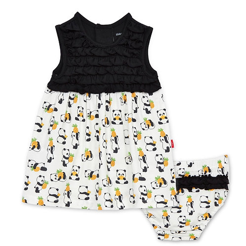 Pudgy Pineapple Dress + Diaper Cover - Magnetic