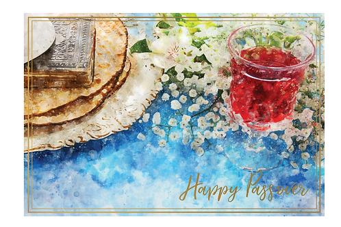 Seder Table Passover Card