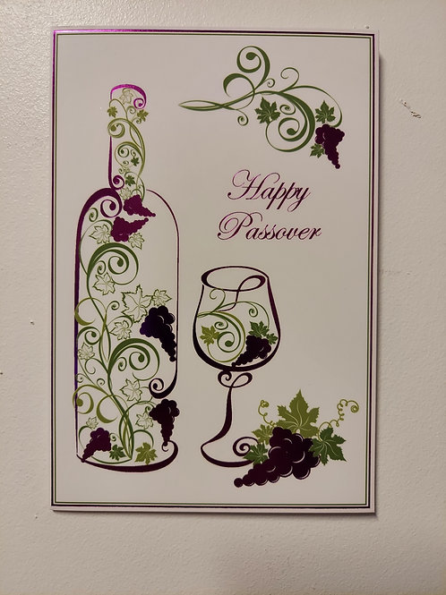 Wine Glass Passover Card