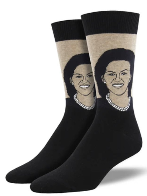 Michelle Obama Socks - Mens