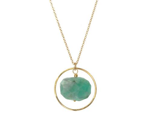 Celeste Emerald Necklace Gold