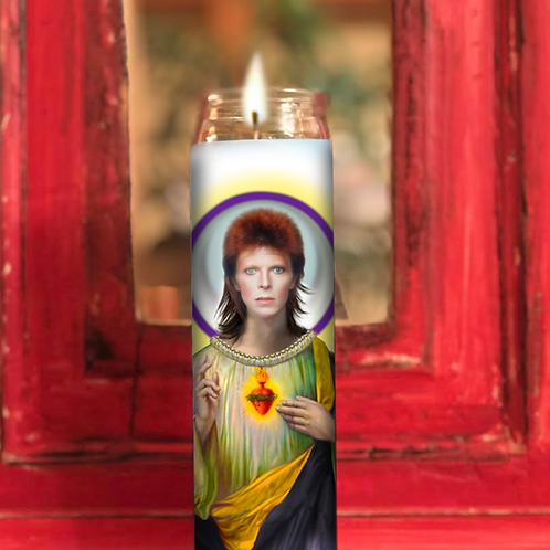 David Bowie Prayer Candle