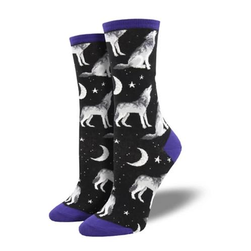 """""""Howling Wolf"""" Women's Socks"""