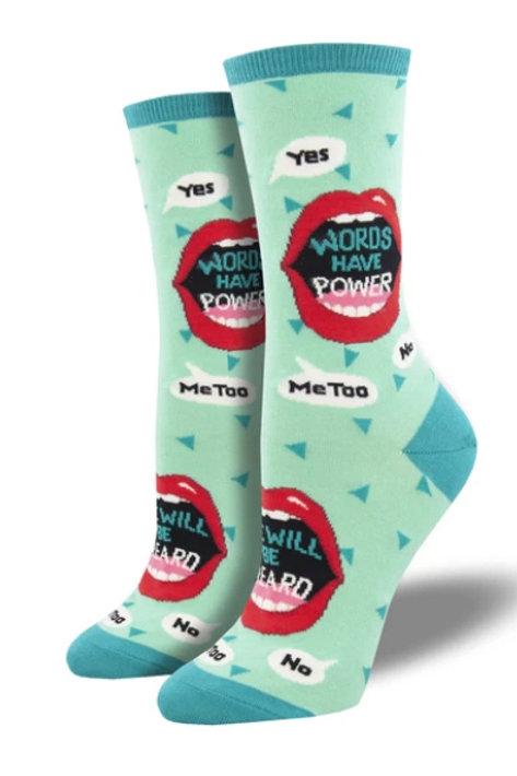 Words Have Power Socks - Women's