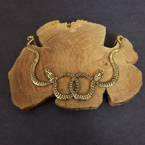 Ophidian Snake Statement Necklace