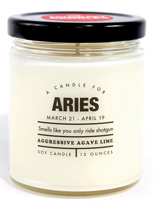 Aries Astrology Candle