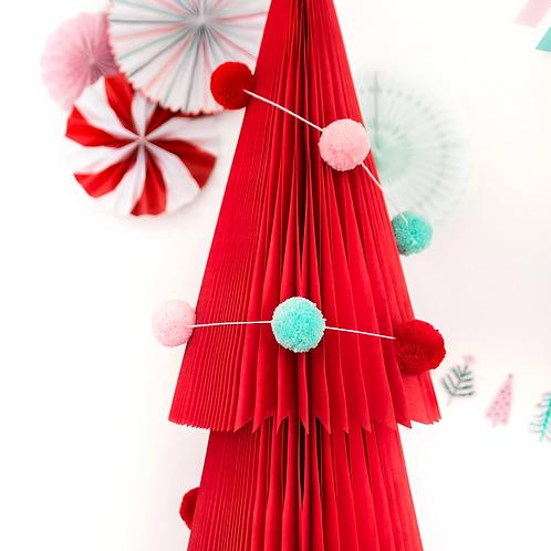 Colorful Yarn Pom Pom Banner