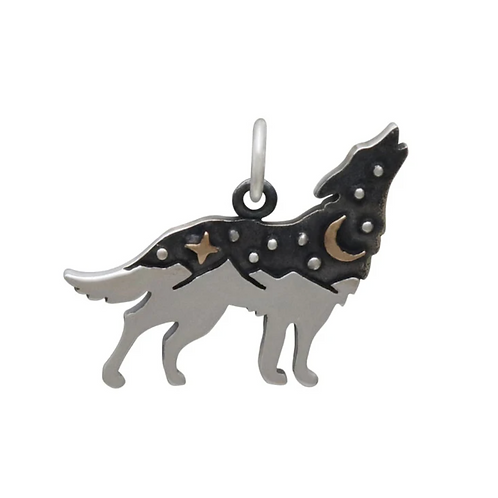 Wolf Charm Necklace