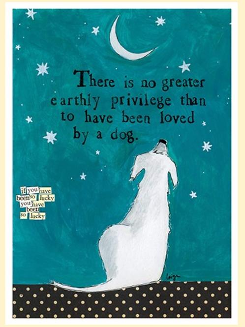Loved By a Dog... Pat Sympathy Card