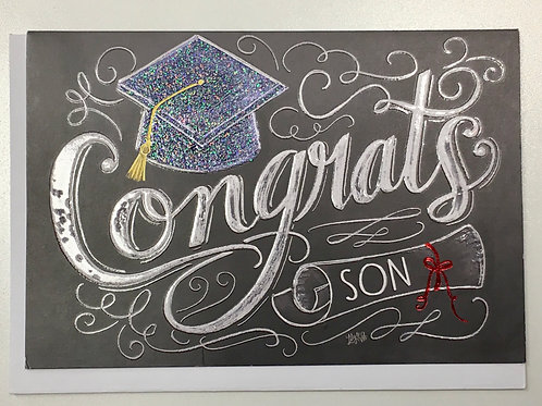 "Graduation Card - Son - ""Congrats"""