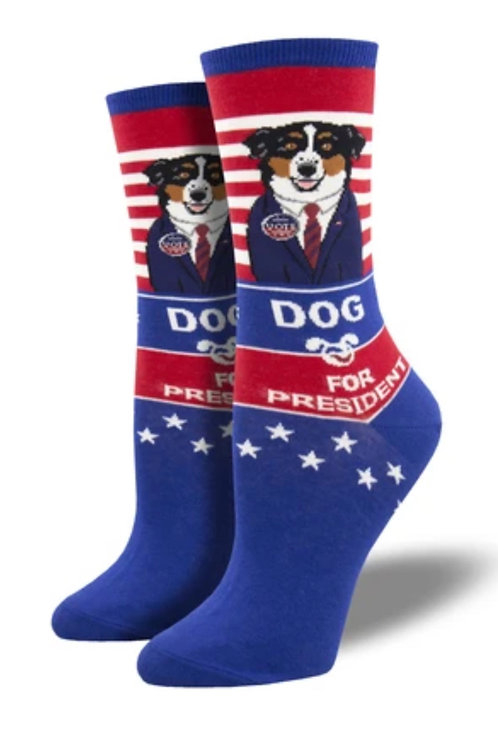 Dog for President Socks - Women's