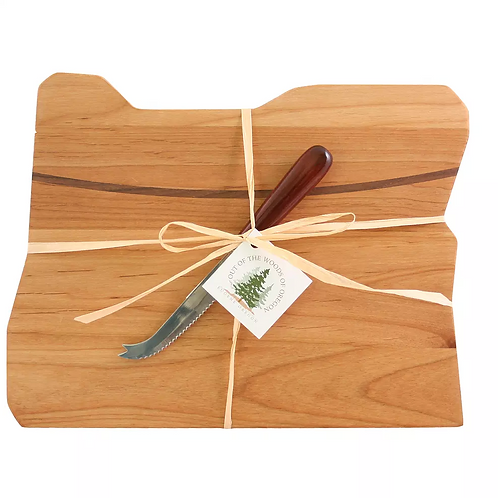 Deluxe Oregon Cutting Board With Cheese Knife