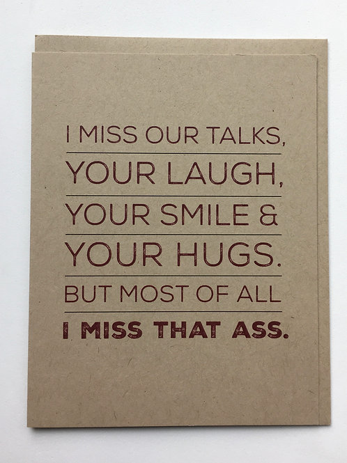 "Miss You Card - ""I Miss Our Talks ...."""