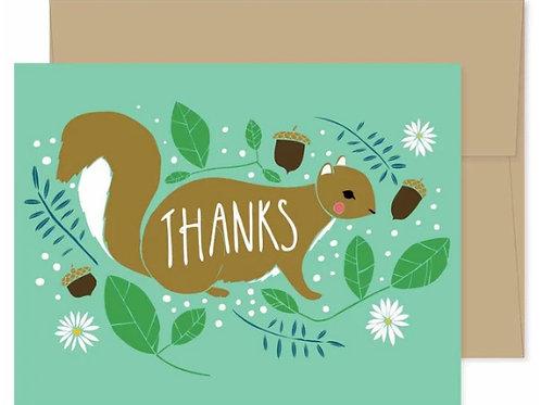 Thank You Card - Squirrel